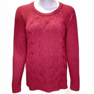 Sonoma Burgundy Cable Knit Sweater